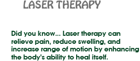 About Laser Therapy
